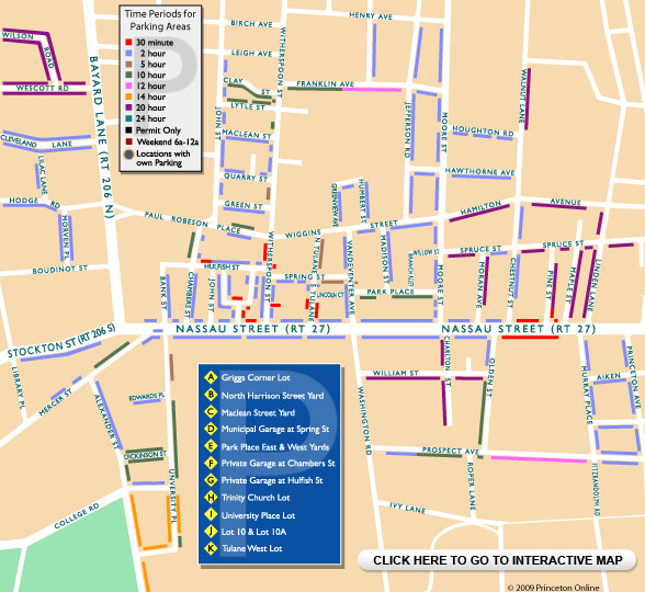 Princeton Parking Map - Click here for interactive map