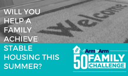 Help Meet Arm In Arm's #50FamilyChallenge!