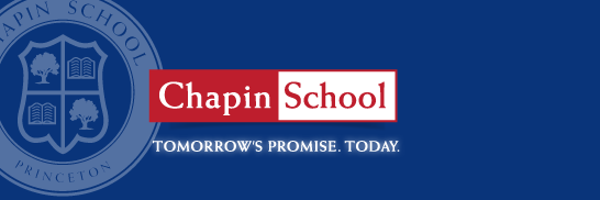 Chapin School. Tomorrow's Promise. Today.